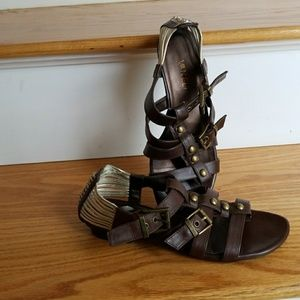 Brown Vaneli Gladiator Sandals